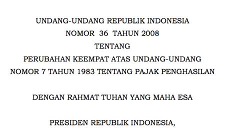 Undang-Undang Nomor 36 Tahun 2008