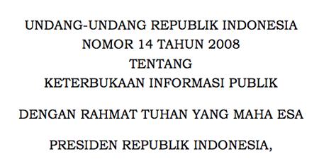 Undang-Undang Keterbukaan Informasi Publik