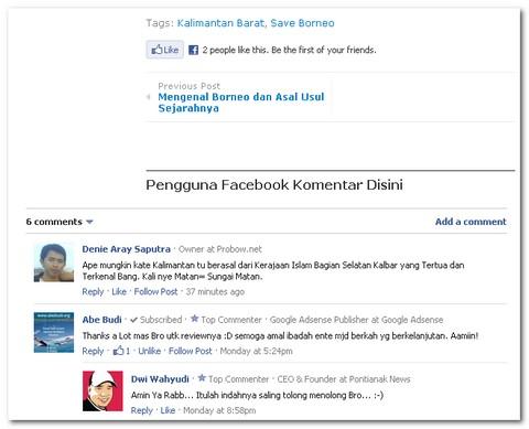 Cara Pasang Komentar Facebook di Blogger Borneo Membuat Sticky Post di