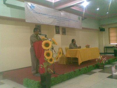 Pengalaman Menjadi Narasumber di Forum Pemberdayaan KIM Sambas 2012