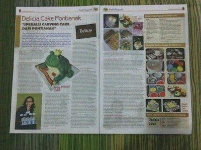 Bisnis Kue Ulang Tahun Delicia Cake Diulas Majalah Tahun 2012