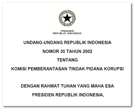 Undang-Undang KPK Terbaru