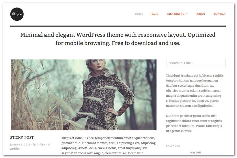 Free WordPress Theme 2013 - Origin