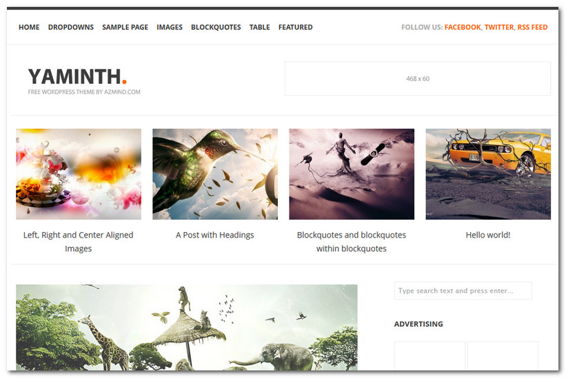 Free WordPress Theme 2013 - Yaminth
