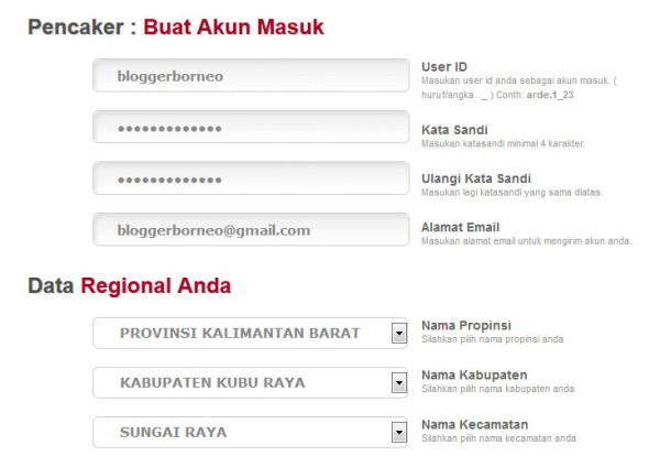 Cara Buat Kartu Kuning Online - Form Pendaftaran