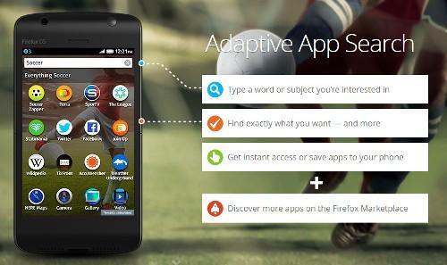 Firefox OS Adaptive App Search