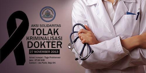 Aksi Solidaritas Mogok Praktek Para Dokter Indonesia