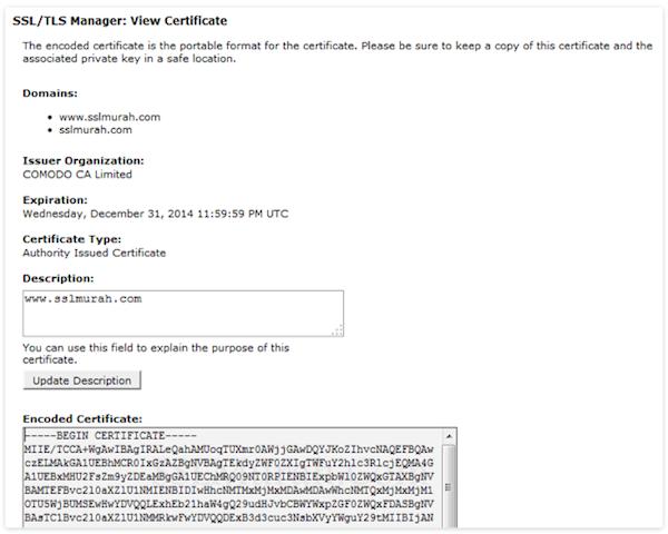 Cara Pasang SSL di cPanel Website Tahap 4