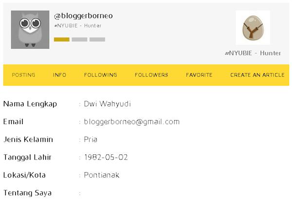 Halaman Profil Nyunyu Dot Com