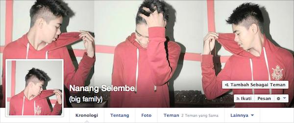 Halaman Facebook Nanang Selembe