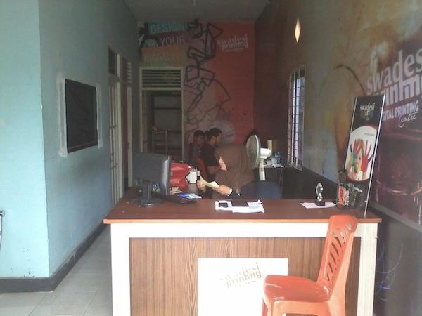 Jasa Percetakan Murah Pontianak - Front Office