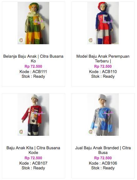 Koleksi Baju Anak Muslim Terbaru Citra Busana