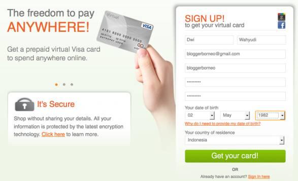 EntroPay, Cara Membuat Kartu Kredit Virtual Gratis