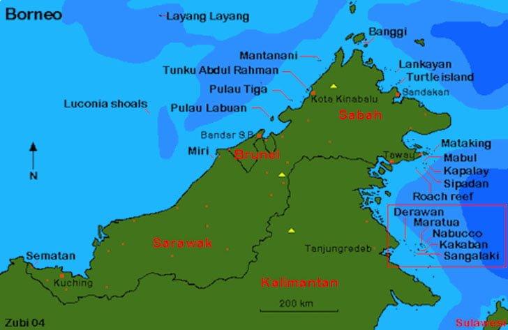 Peta Lokasi Pulau Derawan