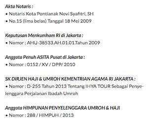 Legalitas Agen Perjalanan Umroh di Jakarta