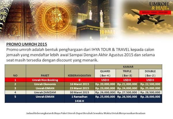 Promo Agen Perjalanan Umroh di Jakarta Tahun 2015