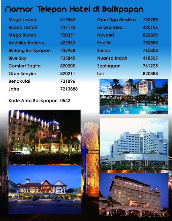 Daftar Nomor Telepon Hotel Balikpapan