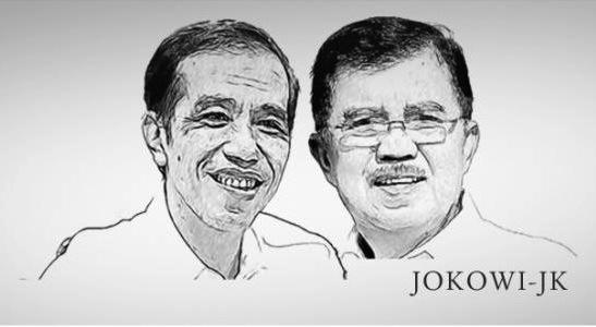 Pasangan Presiden dan Wakil Terpilih Jokowi Kalla