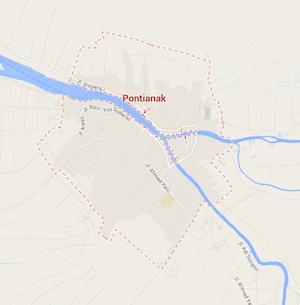 Peta Kota Pontianak via Google Maps