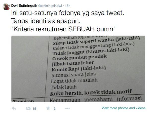 Klarifikasi via Twitter