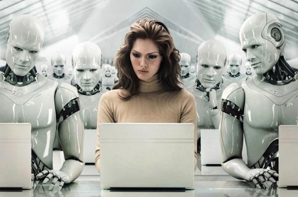 Robot Worker Changing Human