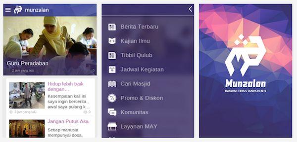 Aplikasi Android Munzalan Apps