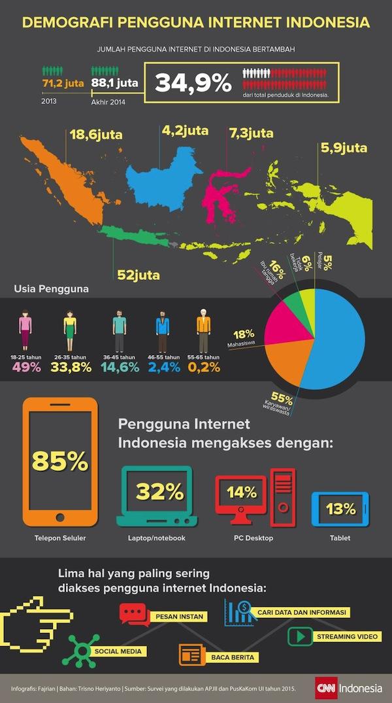 Demografi Pengguna Internet di Indonesia