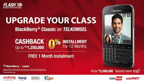 Paket Bundling Telkomsel dan BlackBerry Classic Maret 2015