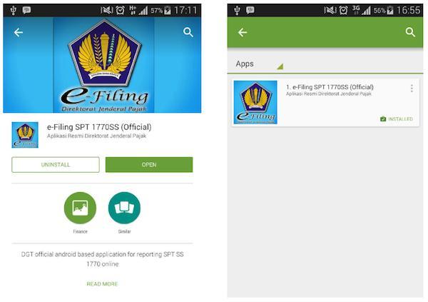 Tampilan Play Store App