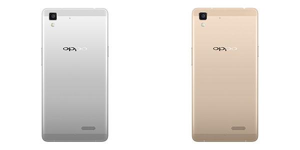 OPPO R7 Gold dan Silver