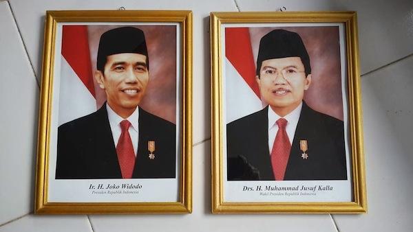 Foto Presiden Jokowi dan Wakil Presiden Jusuf Kalla