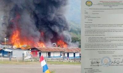 Kondisi Masjid Dibakar di Papua dan Selebaran Surat Pelarangan dari GIDI