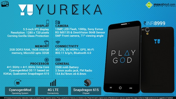 Micromax YU Yureka Specification