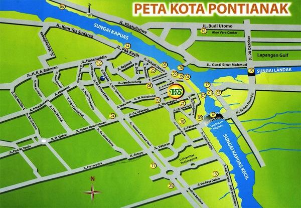 Peta Kota Pontianak