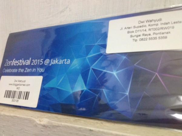Undangan ASUS ZenFestival 2015 Blogger Borneo