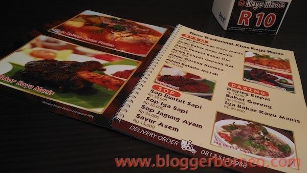 Kayu Manis Resto dan Desert Cafe Menu List