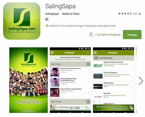 Unduh Aplikasi Android SalingSapa di Google Play Store