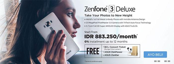 Program Promo Pre-Order ASUS ZenFone 3 Deluxe
