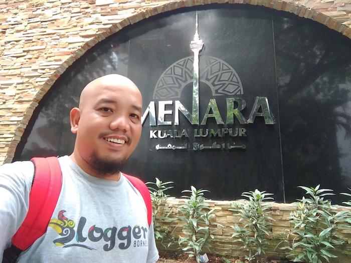 Blogger Borneo at Menara Kuala Lumpur Malaysia