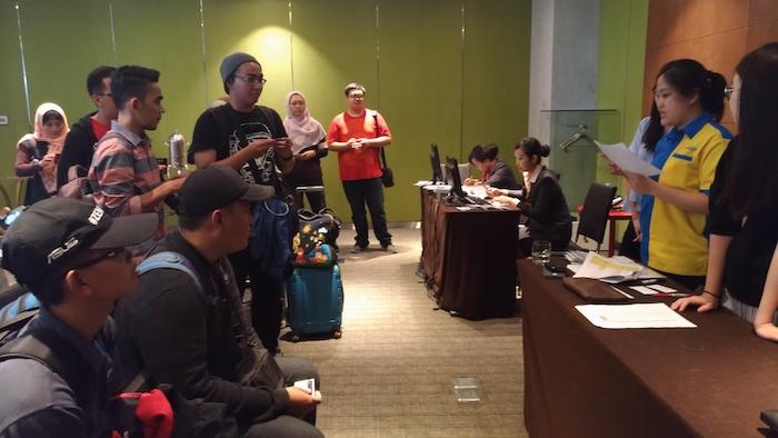 Proses Registrasi Ulang Para Undangan ASUS ZenFinity 2017