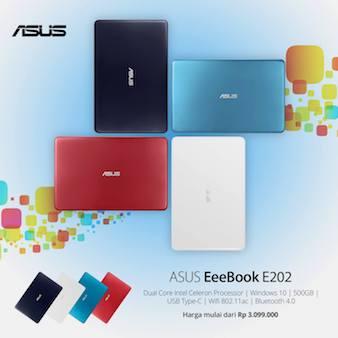 ASUS E202 - Empat Pilihan Warna