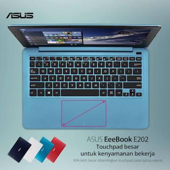 ASUS E202 - Touchpad Lebih Besar