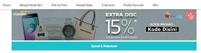 Laman Website Voucher AlfaCart