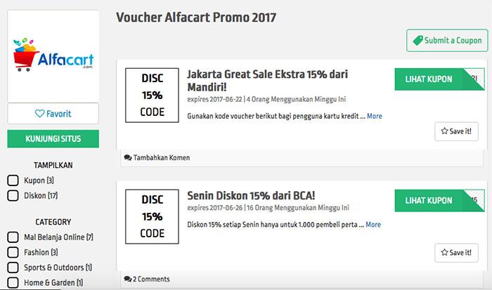 Voucher AlfaCart Promo 2017