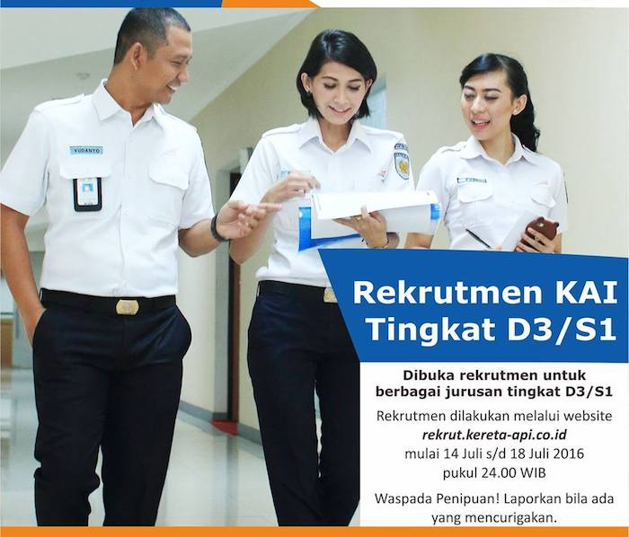 Info Rekrutmen Kereta Api Indonesia Juli 2017