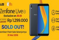ASUS ZenFone Live L1 Flash Sale 31 Mei 2018