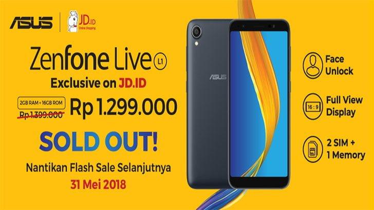 ASUS ZenFone Live L1 Flash Sale 31 Mei 2018