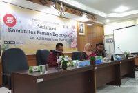 Sosialisasi Komunitas Pemilih Berintegritas se Kalimantan Barat